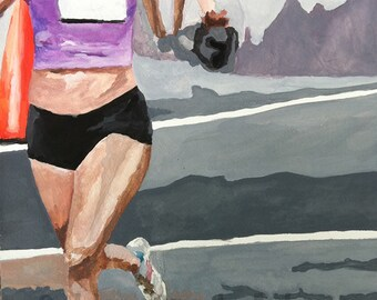 Woman runner ahead of the pack- Sports Print
