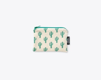 New! Sparkly Cactus Organic Cotton Coin Purse