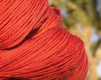 Natural Dye -  BFL Wool (Blue Faced Leicester) - Bronzed Cochineal