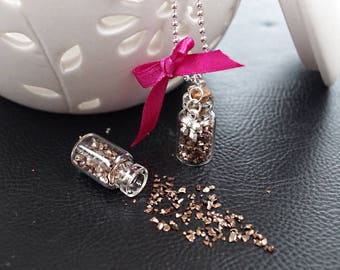 Brown Stone dust / chocolate Deco vials - 10 grams