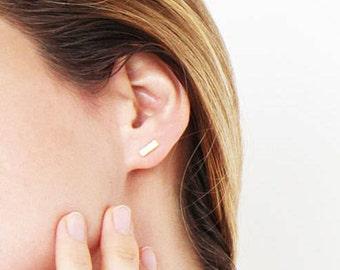 Tiny Earrings, Minimalist Earrings, Small Earrings, Geometric Earrings, Post Earrings, Tiny Stud Earrings, Bar Earrings