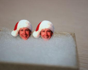 Chevy Chase Christmas Vacation Clark Griswold Post Stud Earrings Jewelry
