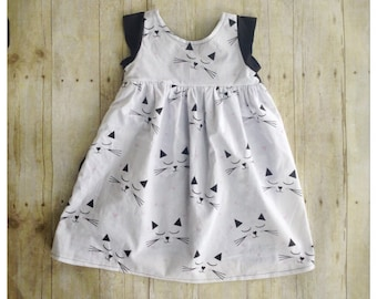 girls dresses, baby dress,cat dress, toddler dress, family pictures, baby girl dress, baby outfit,spring outfit, fun cat dress