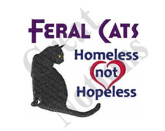 Feral Cats - Machine Embroidery Design