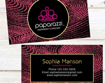 Paparazzi Business Cards, Fast Free Personalization and Change, Digital Business Cards, Paparazzi Business Card, Marketing Business card