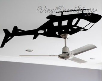 Helicopter Ceiling Fan Decal, Boys Room Wall Decal, Helicopter Decal, Helicopter Sticker, Boys Room, Baby Boy, Helicopter, Military Decor