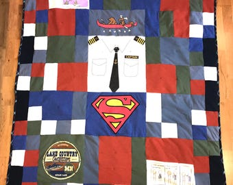 Patchwork Style T-Shirt Quilt
