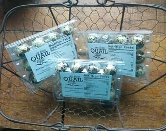 One dozen delicious quail eggs!