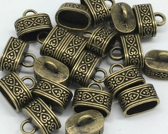 Bead Caps Antique Gold Plated  15x15x10 mm