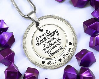 Love Story Necklace, Sparkling Necklace, Silver Sparkling Pendant, Gifts for Mum, Girlfriend, Sparkling Love Story Necklace Silver ONLY 79
