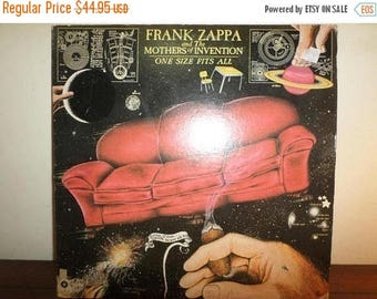 Save 30% Today Vintage 1975 Vinyl LP Record One Size Fits All Frank Zappa Mothers of Invention Near Mint Condition 11303