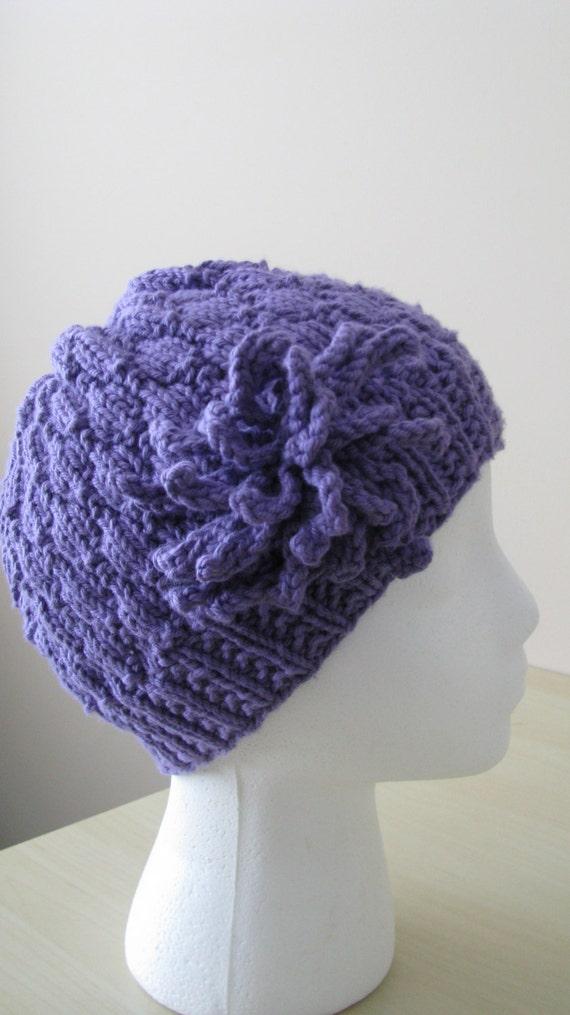 Chemo Hat pattern, Womens hat pattern, knitted hat pattern, \
