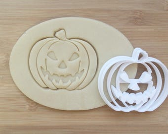 Jack-o'-lantern Cookie Cutter 3D Printed | Halloween Cookie Cutter / Fall Cookie Cutter / Holiday Cookies / Pumpkin Cookie Cutter