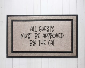 Funny Cat Welcome Mat, Cat Lover Gift, Funny Cat Door Mat, Cat Lady Welcome Mat, Cat Lover Decor, Housewarming Gift, Funny Home Decor 0645