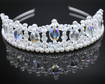 Crystal and Pearl Princess Tiara