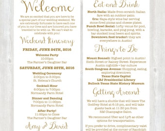 Welcome letter wedding welcome letter hotel welcome letter welcome letter weekend itinerary wedding itinerary gold welcome letter destination wedding spiritdancerdesigns Image collections