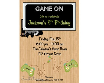 Pool party invitation pool birthday invitation swimming video game birthday party invitation sleepover birthday invitation sleep over invitation sleep over party slumber party stopboris Image collections