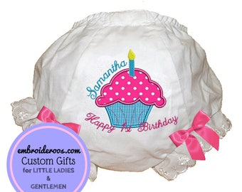 1st Cupcake Bloomer + Diaper Cover