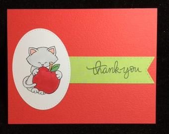 Thank You Cat (Teacher) Greeting Card