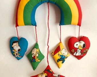 Vintage Peanuts Rainbow Mobile, 1960s Peanuts Mobile