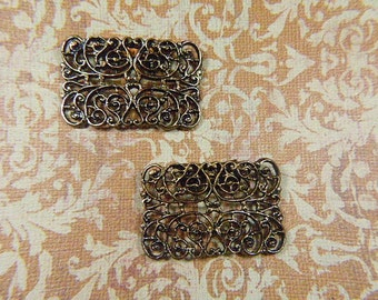 Vintage Baroque Filigree Gold Shoe Clips - BR-516 - Filigree Shoe Clips - Baroque Shoe Clips