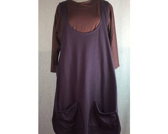 Gather Organic Overpiece - Plum XL Ready to Ship by Blue Fish Red Moon Clothing