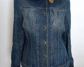Faux fur collection items and jean jacket size M