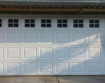 Garage Door Windows Decals - Garage Faux Window Decals - Window Decals - Outdoor Garage Door Vinyl Windows - Mock Window Decals