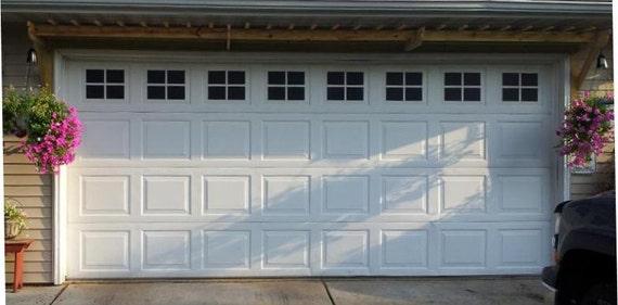 Nice Garage Door Windows Decals Garage Faux Window Decals