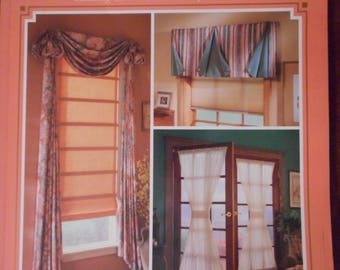 More Creative Window Treatments - Sewing Pattern Book- Quick and Easy