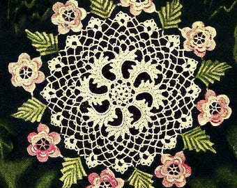 Irish Rose Doily Crochet Pattern 723143