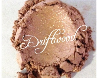 DRIFTWOOD Organic Mineral Eye Shadow Light Brown All Natural Pure Gluten Cruelty Free