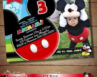 HUGE SELECTION Mickey Mouse Invitation Chalkboard Invitation