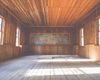 Schoolhouse Photo | Oregon Photography | One Room Schoolhouse | Chalkboard Photo | Surreal Print | Country | Oregon | Rural Oregon Photo