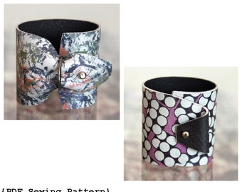 Cuff Bracelet Pattern - DIY Cuff Bracelet - Leather Wrist Cuff - Sewing Pattern - Leather Pattern - DIY Tutorial (Instant Download)