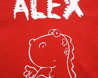 Personalised Dinosaur T-Shirt
