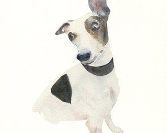Watercolor Cards Dog cards Handmade Water-colour Cards, Four Pet Cards, Dog Lover Cards Pet Lover Cards  Canine Notecards
