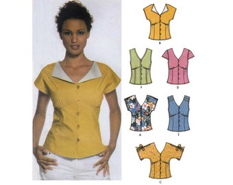 Women's Easy to Sew Summer Tops Pattern, Misses' Size 12-14-16-18-20 Bust 34-36-38-40-42 UNCUT Simplicity 5059