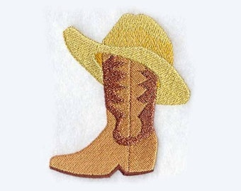 Cowboy Boot Hat Tea Towel   Embroidered Kitchen Towel   Kitchen Towel   Personalized Kitchen Gifts   Embroidered Towel   Texas Gift