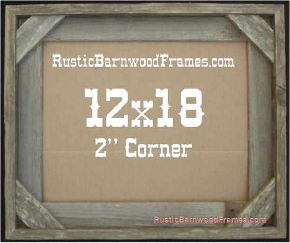 12x18 2 Corner rustic barn wood aged weathered reclaimed