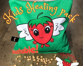 Kids Gift Idea, Cute Strawberry Cherry Pit Pillow, Microwaveable Heat Pack, Colics in Babies, Kids Boo Boo Ice Pack, Belly Pain Relief