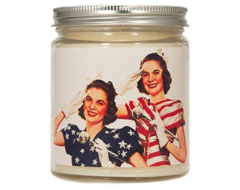 4th of July Decor, Fourth of July Soy Candle, 4th of July Candle, Scented Candle, Summer Candle, Container Candle, Soy Candle,