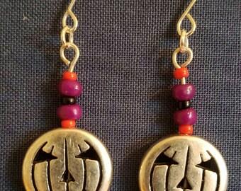 Jack-o-lantern Halloween Earrings