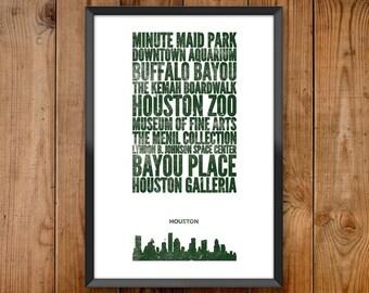 Houston City Print