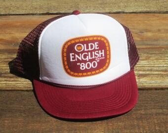 Vintage Olde English 800 Malt Liquor 40 oz 8 Ball Mesh Snapback Hat