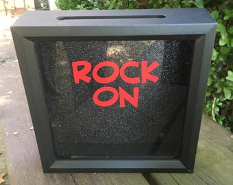 ROCK ON, Concert Tickets, 8x8 Shadow Box, Concert Memories, Rock and Roll, Teen Boy, Teen Gift, Rock and Roll, Souvenirs