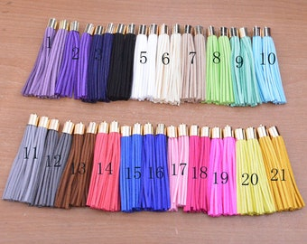 20pcs faux suede tassels for craft.gold cap tassel.large suede leather tassel.long suede leather cord with gold cap tassel.80x10mm