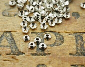 Tiny Bead Cap Small Bead Cap Silver Bead Cap 3mm Petal Cap (about 300-350) P100