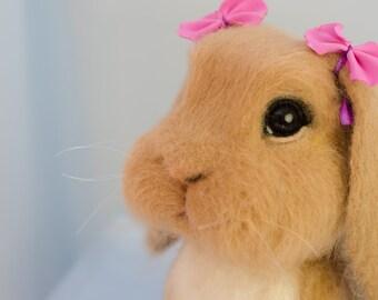 Needle felted bunny, Easter gift, Needle felted animal, Needle felting, Needle felted rabbit, Gift for her, Needle felt, Bunny gifts, Rabbit