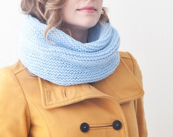 Sky Blue winter scarf, Warm Scarf, Blue Infinity Scarf, Gift for Her, Winter Scarves, Chunky scarf, Blue winter snood, Blue Mother Day Gift